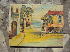Peinture naïve huile sur toile signée et datée