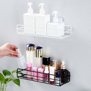 Gel Adhesive Wall Mounted Storage Rack Organizer Shampoo Holder Bathroom Shelive