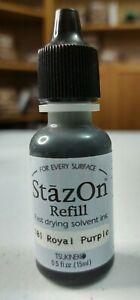 Stazon Stamp Cleaner /& Tsukineko Stazon Ink Refill Jet Black