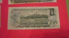 Canadian 1973 Series One $1 Dollar Bill Excellent Uncirculated Condition