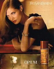 PUBLICITE ADVERTISING 045  2008  YVES SAINT LAURENT  parfum femme OPIUM