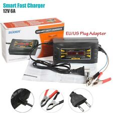 Automatic Car Battery Charger 110V/220V To 12V 6A Wet Dry Lead Acid Digital LCD