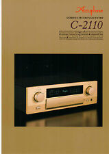 DEPLIANT Prospetto accuphase c-2110 b596