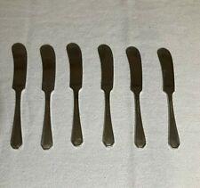 "(6) International Silver Co. Butter Knives 3/4"" L No Mono"