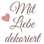 Mit Liebe dekoriert