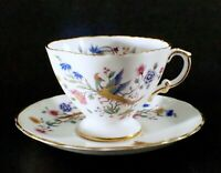 VTG Hammersley Tea Cup and Saucer Bird of Paradise Footed Bone China 1939+ UK