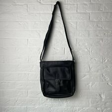 Camel Active Faux Leather Cross Body Bag Black Excellent Flight Bag Holdall Ipad