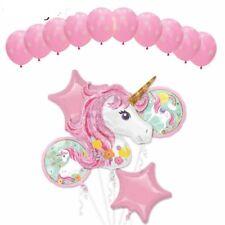 15 Pcs Giant Unicorn Rainbow Big Stars Latex/foil Balloons Party Birthday Set!