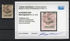 Memel 214I sauber gest. Luxusbriefstück BPP BEFUND 300EUR (R5990