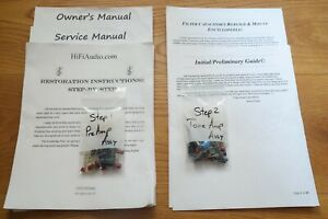Kenwood C1 preamp capacitor restoration recap repair service rebuild kit fix