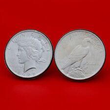 US 1922 Peace Silver Dollar BU Uncirculated Coins Cufflinks NEW