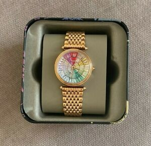 FOSSIL LE1070 Limited Edition Lyric Rose Gold Stainless Steel Rainbow Watch OS