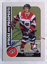 Tyler Cuma Ottawa 67's 2008-09 In The Game Heroes & Legends Signed Card