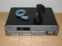 CISCO 1941/K9 Integrated Services Router  w. 2x GE, 2x EHWIC slots, IP Base IOS