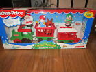 Fisher Price Little People Christmas Train NEW Santa Snowman Reindeer 1998 elf