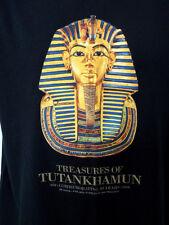 Treasures Tutankhamen Tee Shirt Black Lg De Young 2009 Exhibit 30 Years King Tut
