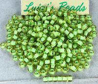 6/0 Round TOHO E Seed Glass Beads #945- Jonquil/Mint Julep Lined 15 grams