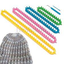 Knitting Knitter Looms 4 Long Plastic Pompom Sock Scarf Hat Maker Craft Kit Set
