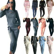 Womens Tracksuits Set Lounge Wear Hooded Tops Pants Sports Suit Plus Sizes UK