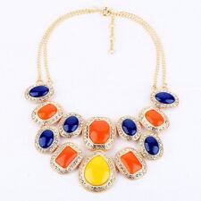 NEW Urban Anthropologie Egyptian Rhinestone Orange Blue Yellow Beaded Necklace