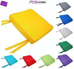 WATERPROOF Chair Seat Pad Cushions Outdoor Tie On Garden Furniture Patio 44x50cm