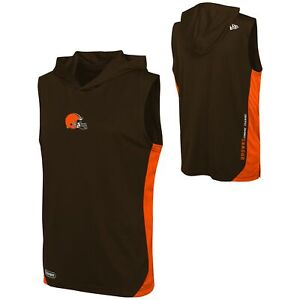 New Era NFL Men's Cleveland Browns Champions Flair Hooded Muscle Tee Shirt