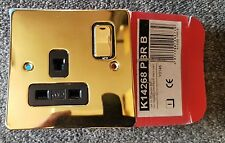 Mk k14268 & B 13a Doble Polo 1 Pasillo Interruptor Enchufe Enchufe 1g 13Amp DP