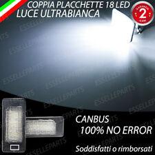 COPPIA PLACCHETTE A LED LUCI TARGA BMW SERIE 3 E92 E93 CANBUS NO AVARIA BIANCO
