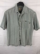 Woolrich Mens Front Button Short Sleeve Large Outdoor Shirt 100% Cotton