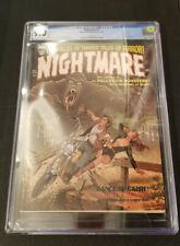 NIGHTMARE 1 CGC 9.0 12/70 BILL EVERETT PIN UP FRIEDRICH & WOLFMAN STORIES