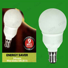 2x 9w bajo consumo CFL Mini Globo GOLF Bombillas, SBC, B15 Lámparas