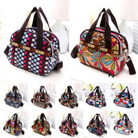 Multi Pocket Crossbody Shoulder Bag Nylon Printed Hobo Bags Handbag Zippers Bag