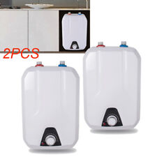 2PCS ElectricTankless Hot Water Heater Home Kitchen& Bathroom Warm Washing 110V