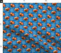 Funny Turkey Thanksgiving Holiday Spoonflower Fabric by the Yard