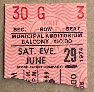 Elvis Presley Concert Ticket Stub Kansas City MO 1974