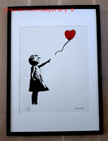 Banksy GRANDE Lithographie Signed Numbered 150, Certificat Edition CADRE INCLUS