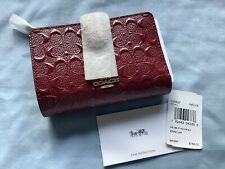 Coach F25937 Im/cherry Corner Zip Wallet Small New With Tags Beautiful!