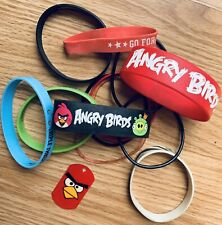 Angry Birds Rubber Bangle Bracelet Lot Stretch 13 Total Fashion Jewelry Bands