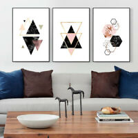 IG_ Nordic Geometric Picture Unframed Wall Art Craft Canvas Painting Home Decor