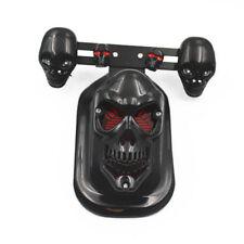 Motorcycle Black Skull Rear Tail Stop Brake Light Turn Signal Blinker For Honda
