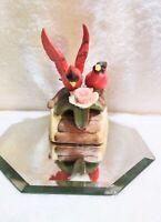 Vintage Resting Wingspread Cardinal Porcelain Figurine