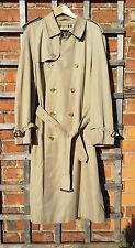 """Gentleman's Burberrys """"Prorsum"""" Beige Trench / Rain Coat / Mac (52L)"""