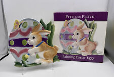 Fitz And Floyd Painting Easter Eggs Canape Plate Handmade With Original Box