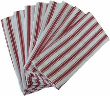 Nouvelle Legende Basketweave Kitchen Towels 19 X 29in (8-Pack) Red