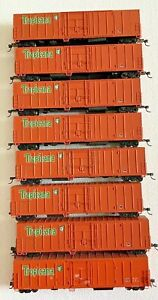 Tropicana Refrigerated Cars Lot of 8 Athearn and Red Caboose
