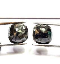 Big Natural Diamond Pair 16.62TCW Gray Oval Rose cut 12.3 x 12.3 x 5.8 MM Gift