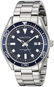 Orologio uomo NAUTICA NAD12518G acciaio inossidabile blu WR 100mt