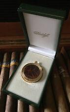 Davidoff Round Cutter, Zigarren Bohrer,goldfarben,brauner Chinalack,UVP € 339,--