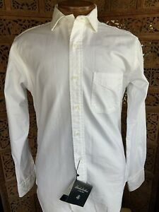 NEW Brooks Brothers Black Fleece by Thom Browne Oxford Shirt White BB2 15.5
