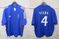 VINTAGE Maillot Equipe de FRANCE Adidas shirt VIERA Mondial 2002 maglia shirt XL